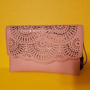 NWT Moda Luxe Blush Pink Clutch
